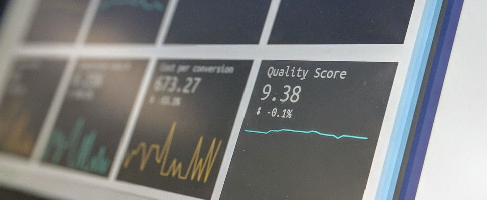 graphs and analytics scores on a computer screen